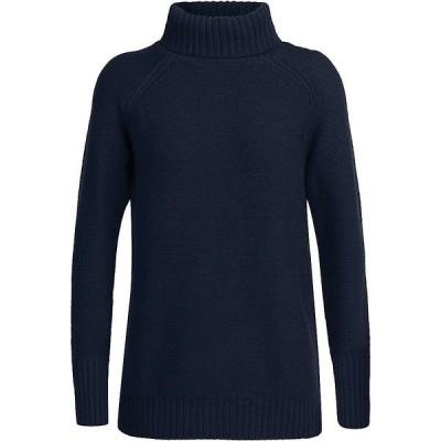 アイスブレーカー ニット&セーター レディース アウター Icebreaker Women's Waypoint Roll Neck Sweater Midnight Navy