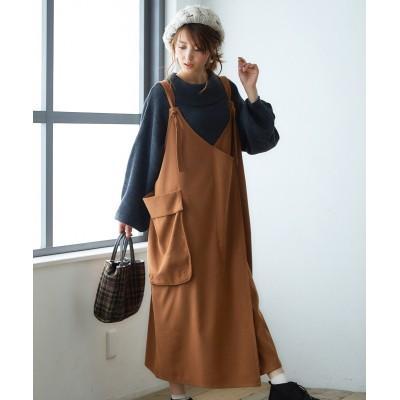 【ゆったりワンサイズ】ラップ風ジャンパースカート (ジャンスカ)Skirts