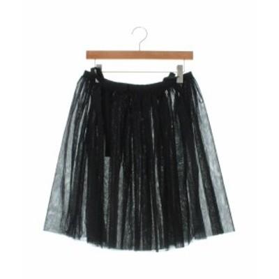 BLACK COMME des GARCONS ブラックコムデギャルソン ひざ丈スカート レディース