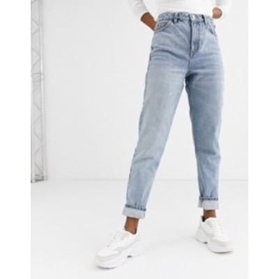 トップショップ レディース デニムパンツ ボトムス Topshop mom jeans in bleach wash Bleach