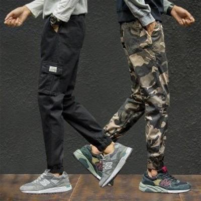 ボトムス メンズ パンツ ワークパンツ ペインターパンツ 迷彩 カモ柄 ミリタリー テーパードパンツ ポケット ウエスト紐 カジュアル