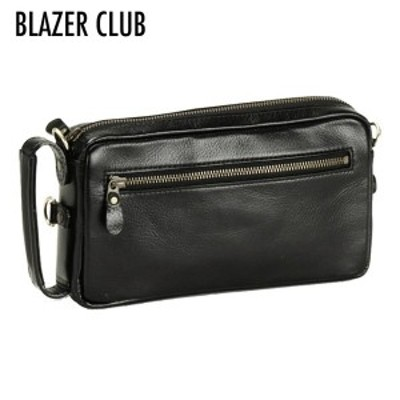【BLAZER CLUB】 ブレザークラブ メンズ 4WAYバッグ セカンドバッグ 日本製 オイルヌメ革 ブラック 25782-1