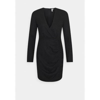 ニリーバイネリー ワンピース レディース トップス RUCHE JACQUARD DRESS - Day dress - black