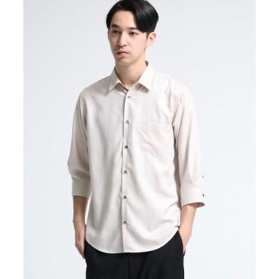 tk.TAKEO KIKUCHI / ティーケー タケオキクチ ◆マイクロスパンレギュラーシャツ(7分袖)