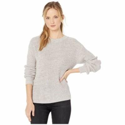 ボボウ Bobeau レディース ニット・セーター レースアップ トップス Lace-Up Back Sweater Oatmeal