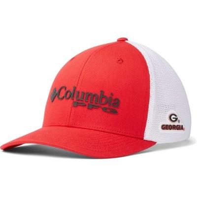 コロンビア Columbia メンズ 帽子 Georgia Bulldogs Red PFG Mesh Fitted Hat