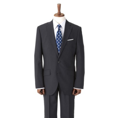 [紳士スーツスペシャル]バイヤーズ セレクト 明るめのブルー生地に濃淡をつけたストライプのラインが爽やかな印象の1着 2パンツスーツ SC2220154-B HM1 HM1