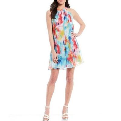 アレックスマリー レディース ワンピース トップス Cleo Pleated Floral Sleeveless Dress