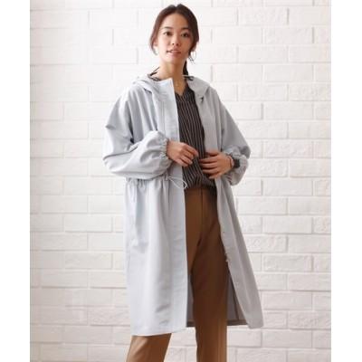 【大きいサイズ】 フード付ウエストドロストコート コート, plus size coat