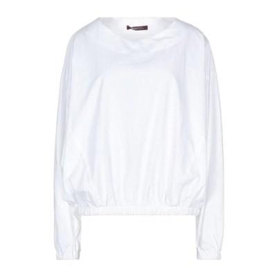 TRUE NYC ブラウス  レディースファッション  トップス  シャツ、ブラウス  長袖 ホワイト