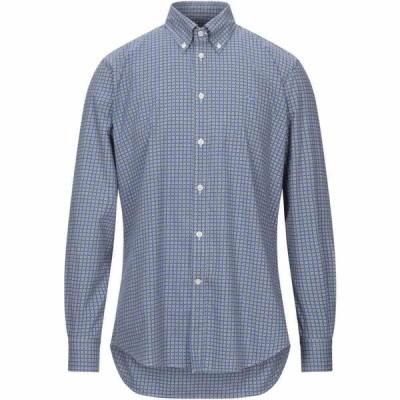 ハーモント アンド ブレイン HARMONT&BLAINE メンズ シャツ トップス Patterned Shirt Pastel blue