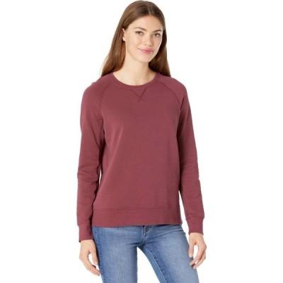 パクト PACT レディース スウェット・トレーナー トップス Organic Cotton Essential Sweatshirt Cabernet