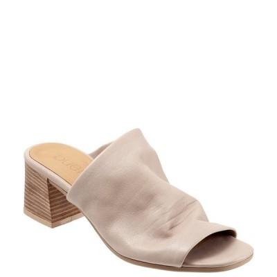 ブエノ レディース サンダル シューズ Emersyn Leather Block Heel Slides Light Grey