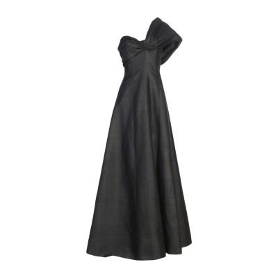 MERCHANT ARCHIVE ロングワンピース&ドレス ブラック 10 ポリエステル 70% / シルク 30% ロングワンピース&ドレス