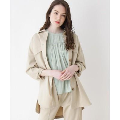 ZAMPA(ザンパ) セミロング丈サファリシャツジャケット