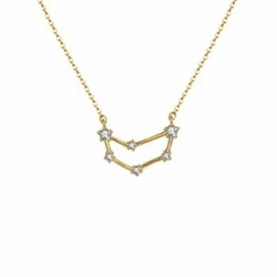 OSIANA Capricorn Constellation Necklace 14K Gold Plated Pendant Dainty Horoscope Sign Zodiac Model Choker Personalized Birthday