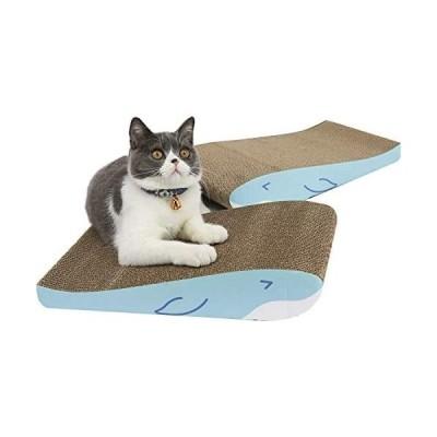 ComSaf 猫 つめとぎ 爪とぎ 段ボール ベッド 猫スクラッチゃー 2枚入り 猫用ミント 高密度 両面使える