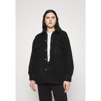 モンキ コート レディース アウター HAZEL SCALE UP - Short coat - black dark