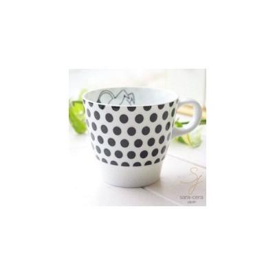 ムーミン モノクロシリーズ たっぷりマグカップ ドット(ムーミン)【専用箱入り】 (MOOMIN 北欧食器 雑貨 グッズ カフェ)