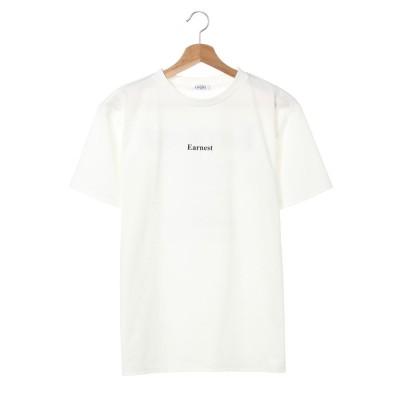 イング INGNI BACKロゴ半袖T (オフホワイト/クロ)