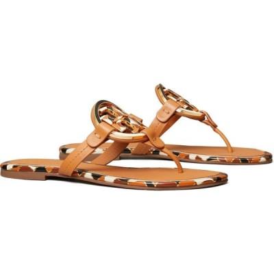 トリー バーチ TORY BURCH レディース ビーチサンダル シューズ・靴 Miller Enamel Logo Flip Flop Elba Camello Multi
