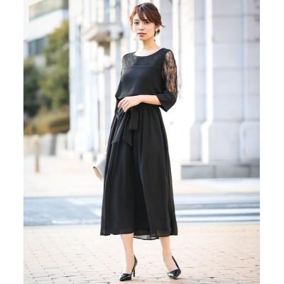 【結婚式・パーティードレス】チュールレース使いロングワンピースドレス<大きいサイズ有> 【謝恩会・パーティドレス】Dress