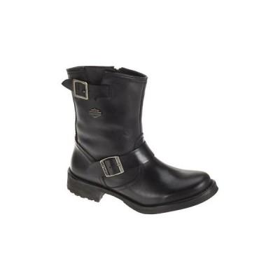 ブーツ ハーレーダビッドソン Harley-Davidson Women's Halsey 8-Inch Black Leather Boots. D83765