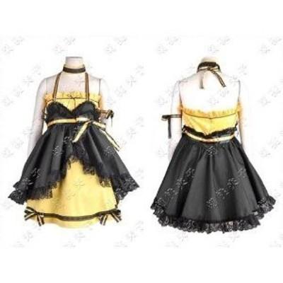VOCALOID ボーカロイド 鏡音リン Kagamine Rin magnet 風 コスプレ衣装 ★  完全オーダメイドも対応可能 * K350