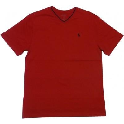 ポロ ラルフローレン ボーイズサイズ 半袖 Vネック ワンポイント Tシャツ レッド Polo Ralph Lauren boys 1101