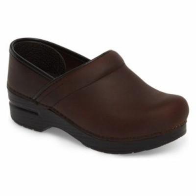 ダンスコ クロッグ Wide Pro Clog Antique Brown/ Black Leather