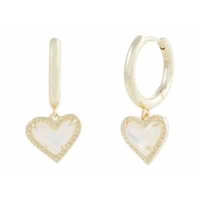 ケンドラスコット ピアス&イヤリング アクセサリー レディース Ari Heart Huggie Earrings Gold Ivory Mother-of-Pearl