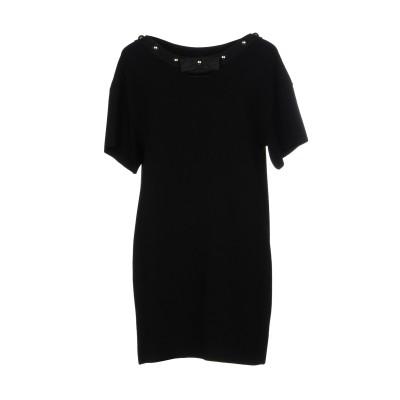 BOUTIQUE MOSCHINO ミニワンピース&ドレス ブラック 40 70% レーヨン 30% ポリエステル ミニワンピース&ドレス