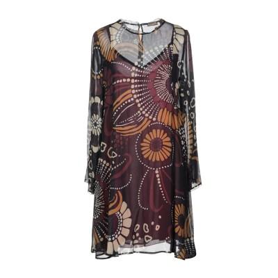 MALÌPARMI ミニワンピース&ドレス ディープパープル 40 レーヨン 100% ミニワンピース&ドレス