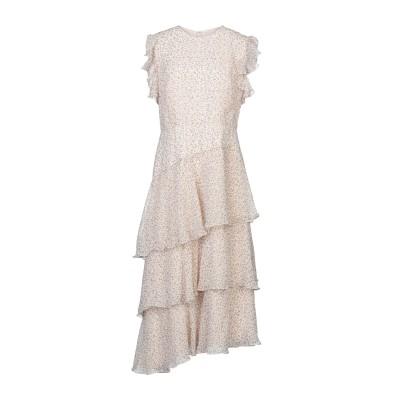 MIKAEL AGHAL 7分丈ワンピース・ドレス ベージュ 12 ポリエステル 100% 7分丈ワンピース・ドレス