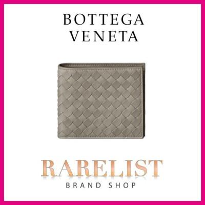 ボッテガヴェネタ BOTTEGA VENETA 財布 小財布 2つ折り 二つ折り ダークセメント レザー 本革