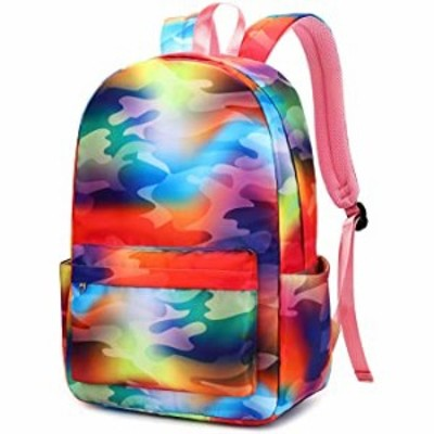 Laptop School Backpack Girls Bookbags Schoolbag for Teens University Travel Daypack (Tie dye Camo)