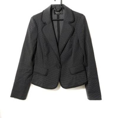 ランバンコレクション LANVIN COLLECTION サイズ38 M レディース 美品 - 黒×白 長袖/春【中古】20210408