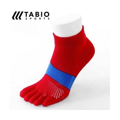ゆうパケット Tabio タビオ レーシングラン五本指ソックス23〜25cm(レッド)(071123928-40)レディース