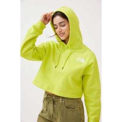 ザ ノースフェイス The North Face レディース パーカー クロップド スウェット トップス Logo Cropped Hoodie Sweatshirt Chartreuse