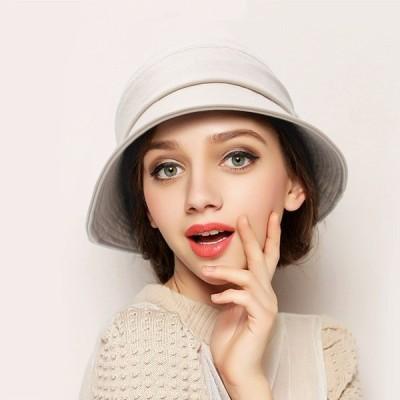 帽子レディース大きいサイズ秋冬UV日焼けつば広チューリップハットスウェット母の日オシャレギフト