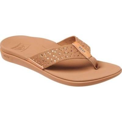 リーフ Reef レディース ビーチサンダル シューズ・靴 Ortho-Jewels Flip Flop Rose Gold Polyester