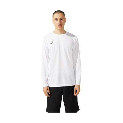 【販売主:スポーツオーソリティ】 アシックス/メンズ/ロングスリーブトップ メンズ BRILLIANTWHITE/PEACOAT XL SPORTS AUTHORITY