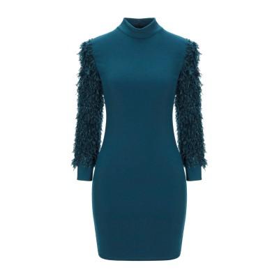 VANESSA SCOTT ミニワンピース&ドレス ディープジェード M/L ポリエステル 89% / レーヨン 7% / 指定外繊維(その他伸縮性