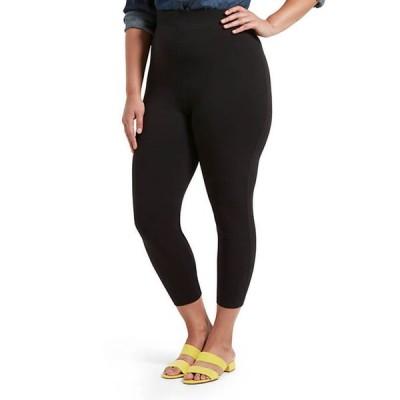 ヒュー レディース カジュアルパンツ ボトムス Plus Size Blackout Cotton Capri Leggings