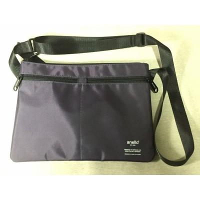 anello  アネロ  ナイロン ショルダーバッグ 紫  ほぼ未使用 送料188円£T  ショルダーバッグ・レディース・ナイロン