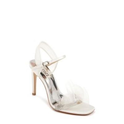バッジェリーミシュカ レディース サンダル シューズ Jessica Embellished Tulle Sandal SOFT WHITE SATIN