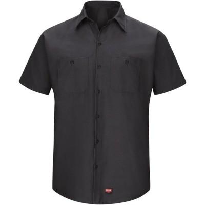 レッドキャップ シャツ トップス メンズ Red Kap Men's MIMIX Long Sleeve Work Shirt Black 01