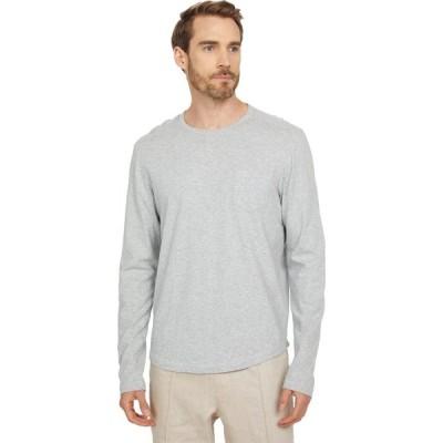 マイケル コース Michael Kors メンズ 長袖Tシャツ ポケット トップス Slub Long Sleeve Pocket Tee Heather Grey
