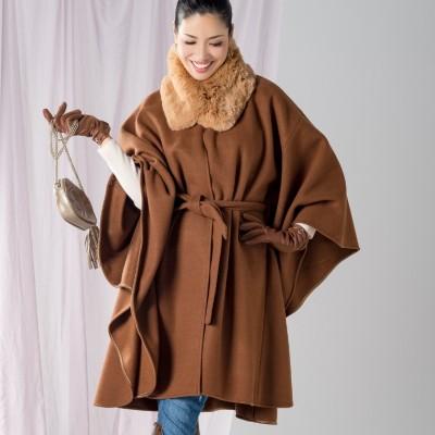 ANELA LUX エコファーティペット付き女優風ケープコートアネラリュクスby AHN MIKA(アンミカ)No.675788 通販 - QVCジャパン