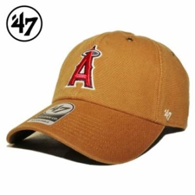 47ブランド カーハート コラボ ストラップバックキャップ 帽子 メンズ レディース 47BRAND CARHARTT MLB ロサンゼルス エンゼルス フリー